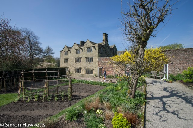 Eyam Hall Pictures - Eyam hall from the kitchen garden