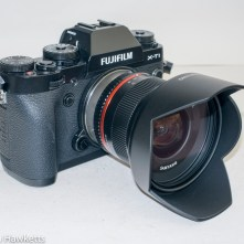 Samyang 12mm f/2 manual focus lens on Fuji X-T1