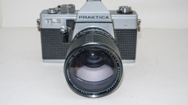 Praktica TL3 35mm camera front view with Sigma XQ lens