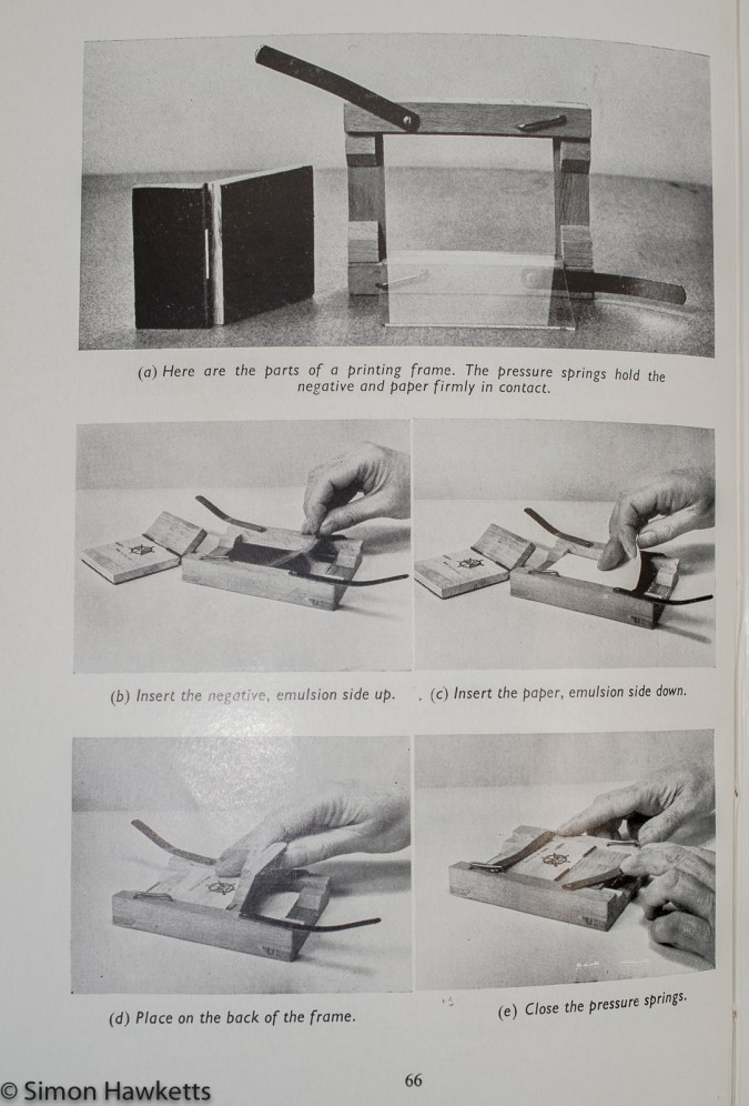 Boy's book of Photography - Making a contact print 1