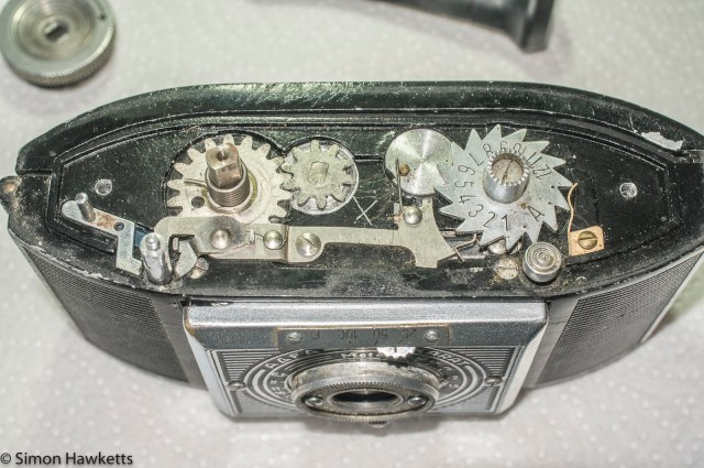 Agfa Karat Art Deco - top plate removed