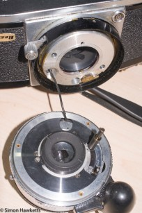 Stripping down a Beauty Beaumat - lens removed from camera body