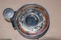 Stripping down a Beauty Beaumat - Shutter exposed showing speed setting plate