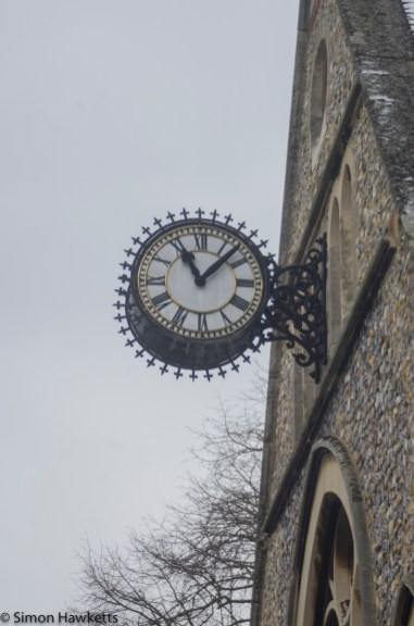 Pentax 28 to 90mm zoom - The church clock