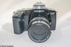Minolta Dynax 5000i auto focus camera with 35 to 80mm zoom lens fitted