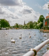 The River Avon at Stratford on Avon