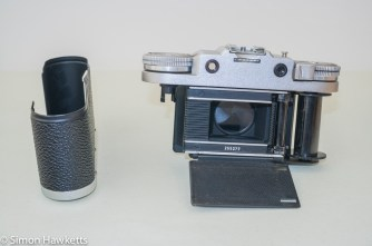 Braun Paxette viewfinder camera - Bottom of camera removed