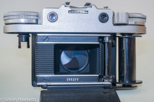 Braun Paxette viewfinder camera - Film chamber