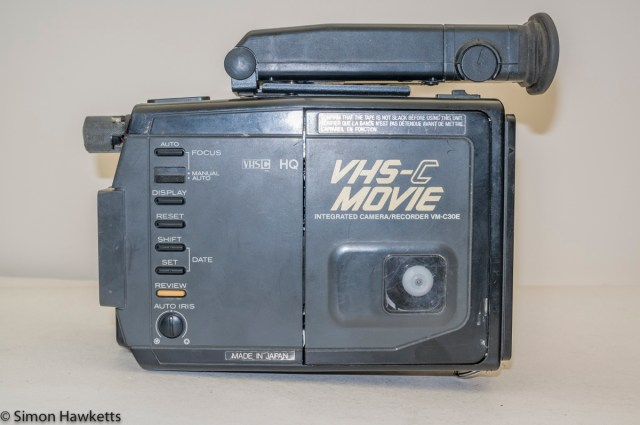 Hitachi VM-C30E VHS-C camcorder - side view