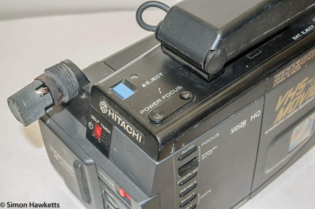 Hitachi VM-C30E VHS-C camcorder - power focus and eject button
