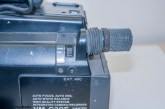 Hitachi VM-C30E VHS-C camcorder - microphone and wind shield switch