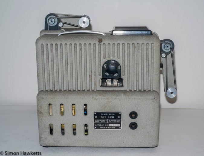 Eumig P8m 8mm Silent Projector - Rear of projector