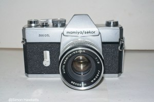 Mamiya/Sekor 500 DTL 35mm SLR camera - Front view