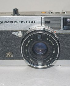 Olympus 35 ECR rangefinder - Front view showing Zuiko 42mm f/2.8 lens