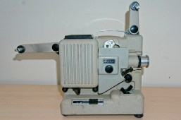 Eumig P8 Automatic 8mm Projector - Arms unfolded ready for a film