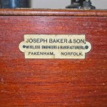 Joseph Baker Single valve radio: Manufacturers plate