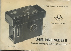 Vintage camera manuals index