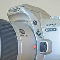 The Minolta Dynax 404 si 35mm plastic SLR Camera