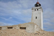 The ruins of the lighthouse have re-emerged as the sand moves on [Simon Hooper]