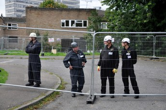 Bailiffs block off access to homes after evicting activists and squatters