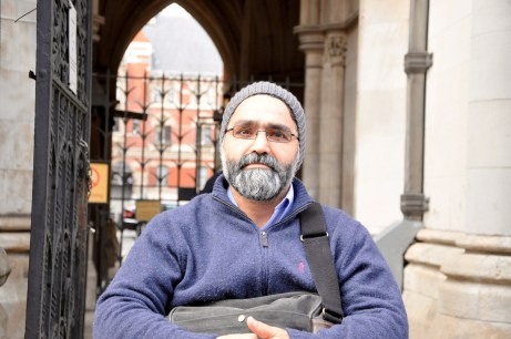 Mostafa Aliverdipour, pictured outside the High Court, after losing the right to stay in his Sweets Way home