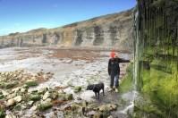 Waterfall at Kimmeridge Bay