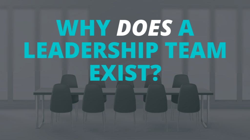 WHY DOES A LEADERSHIP TEAM EXIST_
