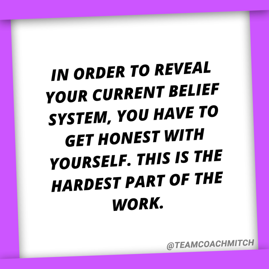 In order to reveal your current belief system, you have to get honest with yourself. This is the hardest part of the work. How To Gain More Control Simon Leadership Alliance San Diego, CA