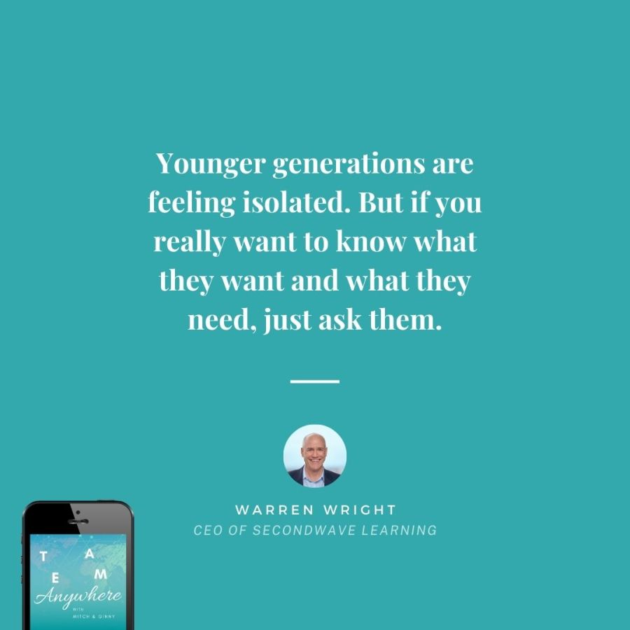Younger generations are feeling isolated. But if you really want to know what they want and what they need, just ask them. Coach-your-Multigenerational-team-Teamwork-Quotes