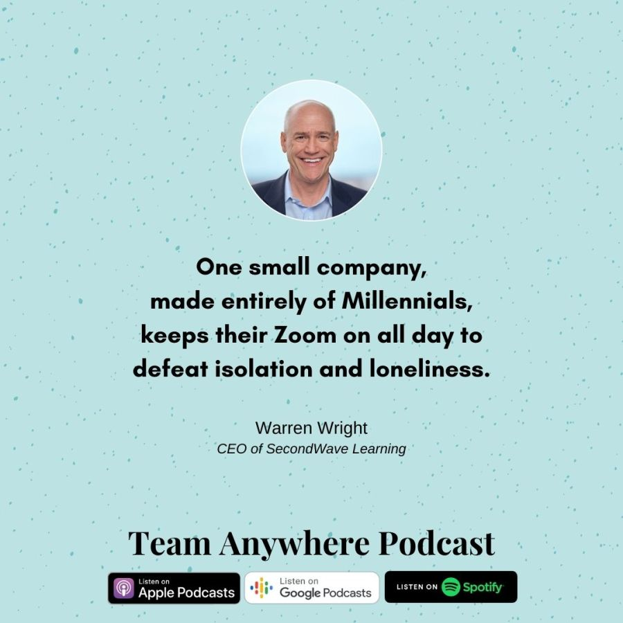 One small company, made entirely of Millennials, keeps their Zoom on all day to defeat isolation and loneliness. coach your multi-generational team Teamwork Quotes Leadership Tips for 2021