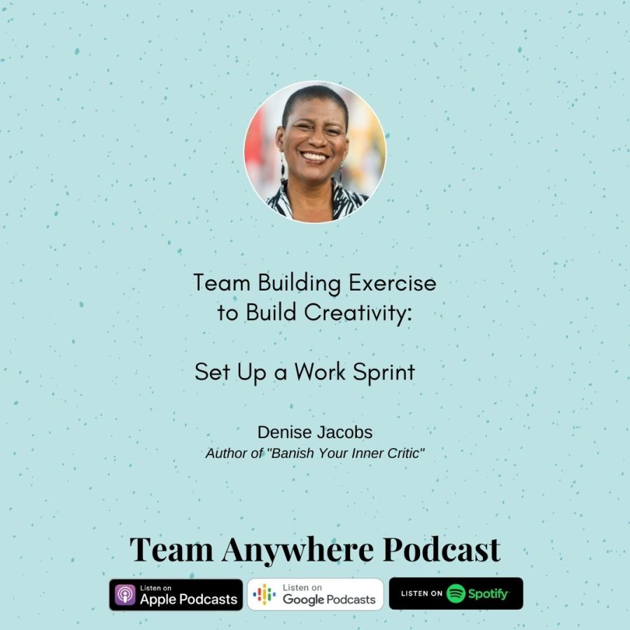 team building exercise to build creativity, set up a work sprint