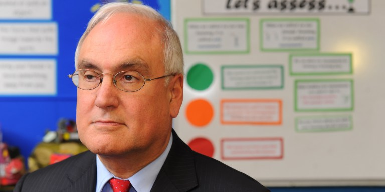 RETRANSMITTED ADDING 0930 TIME TO EMBARGO. Embargoed to 0930 Thursday February 9. Ofsted Chief Inspector Sir Michael Wilshaw during a visit to Fairlawn Primary School, in Honor Oak, south east London. PRESS ASSOCIATION Photo. Picture date: Wednesday February 8, 2012. Photo credit should read: Dominic Lipinski/PA Wire