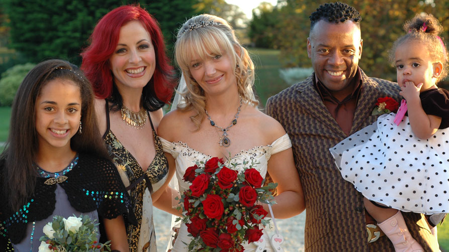 Lisa with TV personalities David and Carrie Grant