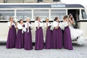 vintage bus - wedding photographer leeds