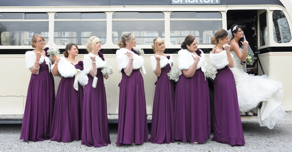 vintage bus - wedding photographer leeds