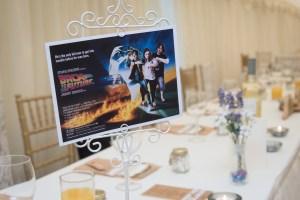 Movie theme at a wedding