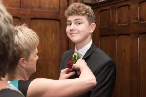 character shot at a wedding
