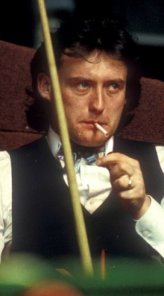 Mandatory Credit: Photo by David Muscroft / Rex Features (1540497bi) Jimmy 'Whirlwind' White Various Snooker - 1980s Embassy World Snooker Championships at the Sheffield Crucible Theatre