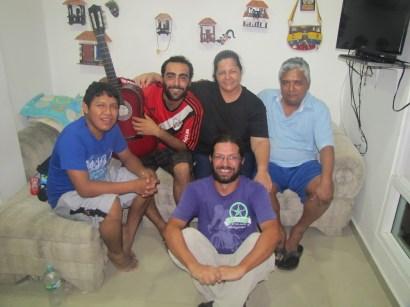 Wladimir, Gonzalo, Lili (mi madre Colombiana), Wilburto and me