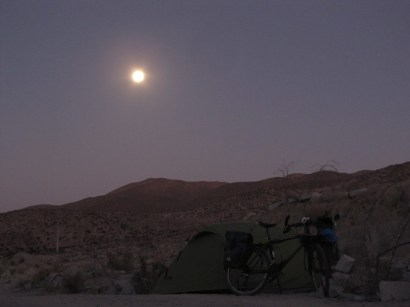 Camping With Full Moon