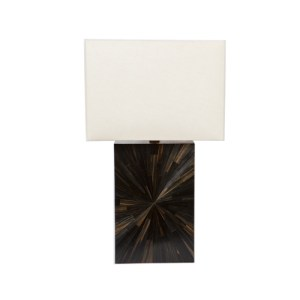 Ebony straw marquetry lamp - Black