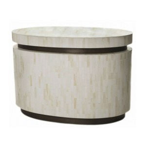 Salerno tesselated oval bone table