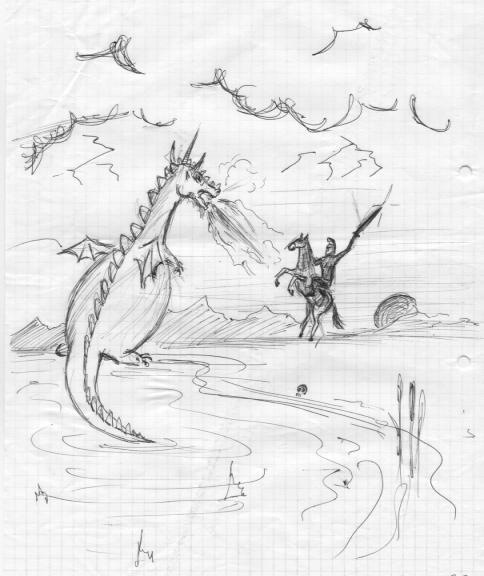 Dragon vs. Knight