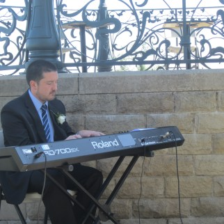 Playing the piano at my best friend's wedding