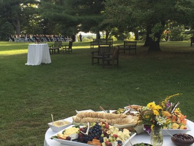 Outdoor Hudson Valley wedding ceremony