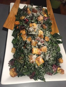 Kale salad with our own croutons