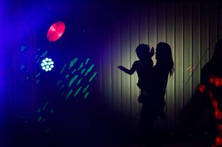 Manja dancing with Caspian