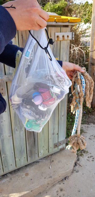 Our rubbish gathering bag 4 with bonus ropes
