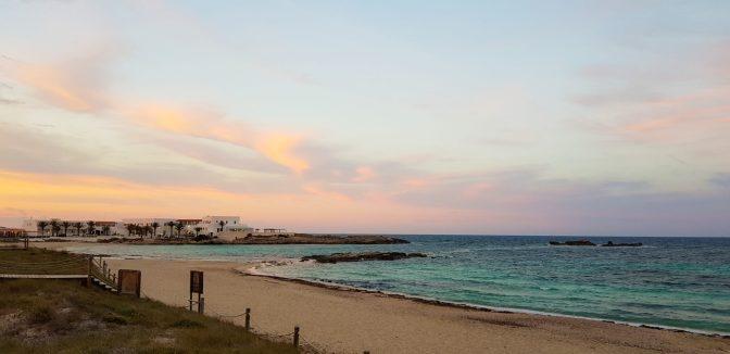 Thus sunset