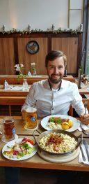 German Beer and meat dinner